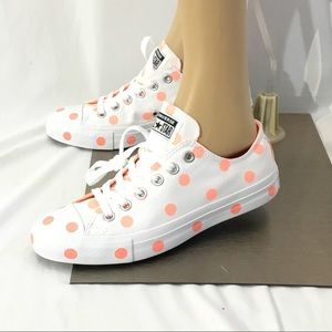 Converse All Star CTAS OX Polka Dots Sneakers NWT